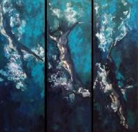 10.Submerging.36x6.Oil.Katarina Meglic