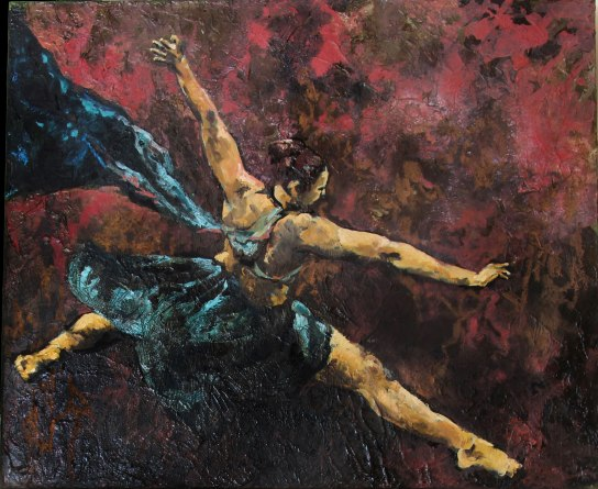 Airbourne | mixed media on canvas | 36 x 30 | sold