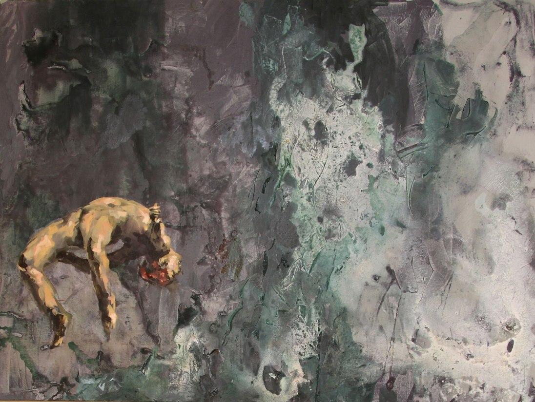 Buoyant   mixed media on canvas   40 x 30   Sold