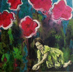 Floral Explorer   mixed media on canvas   36 x 30   $1700