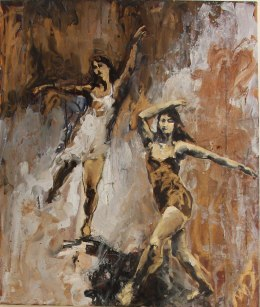 A painting depicting two dancers